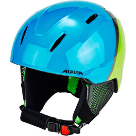 Alpina Carat LX Casco da sci Bambino, green-blue-grey